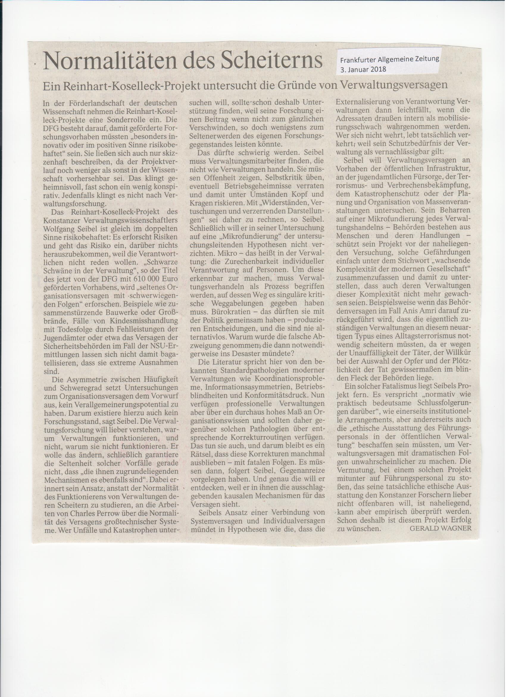 Medienberichte | Prof. Dr. Wolfgang Seibel | Personen ...